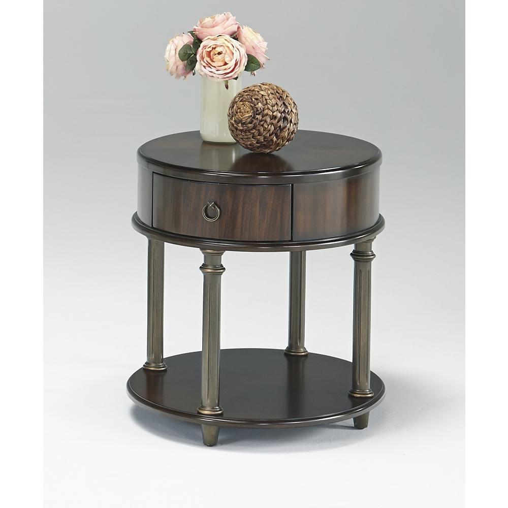 Regent Court Regent Cherry Round Chairside Table