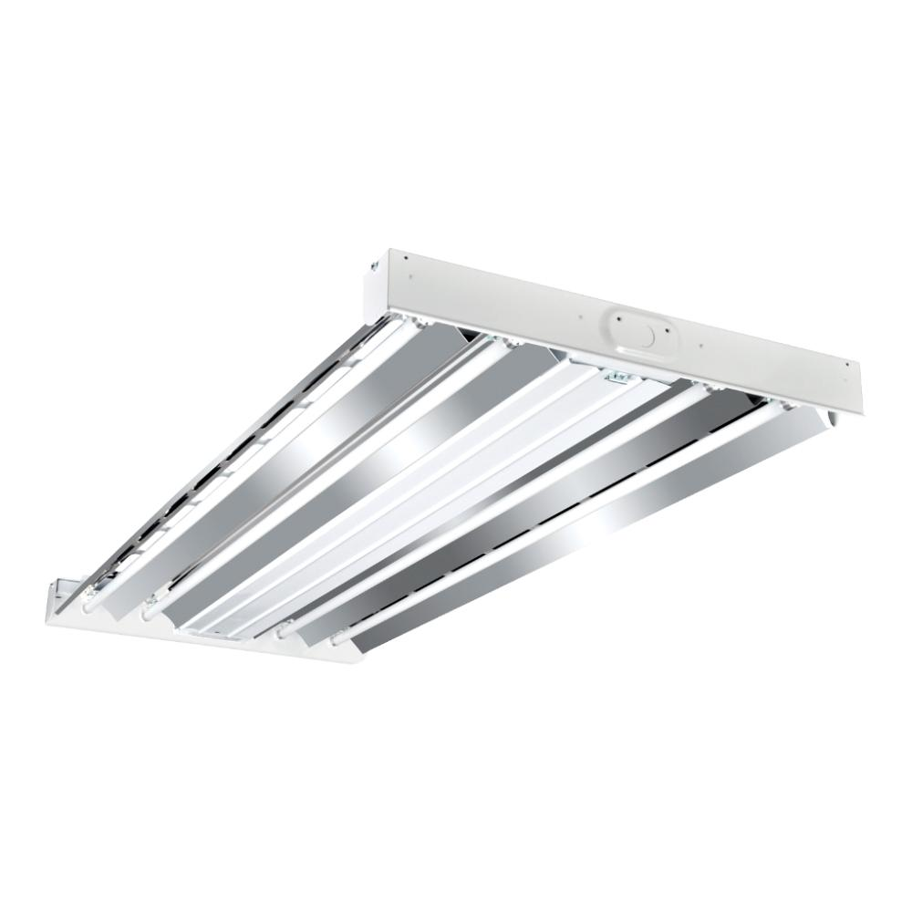 Metalux 4 Light 2 Ft X 4 Ft White High Output Fluorescent High Bay Hbl454t5ho Lp41 The Home Depot
