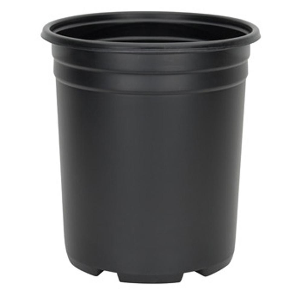 5 Gal. Black Resin Thermoformed Nursery Pot
