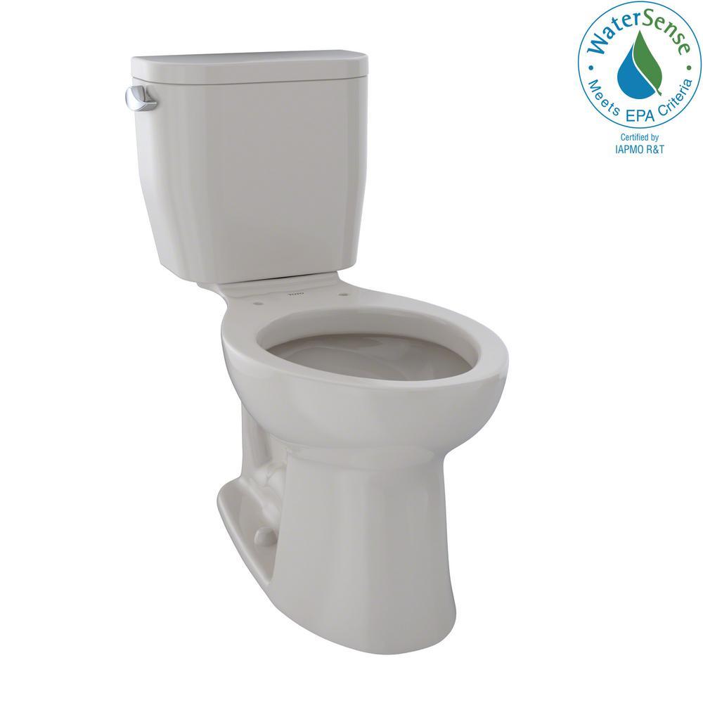 Toto Entrada 2 Piece 1 28 Gpf Single Flush Elongated Toilet In Sedona Beige