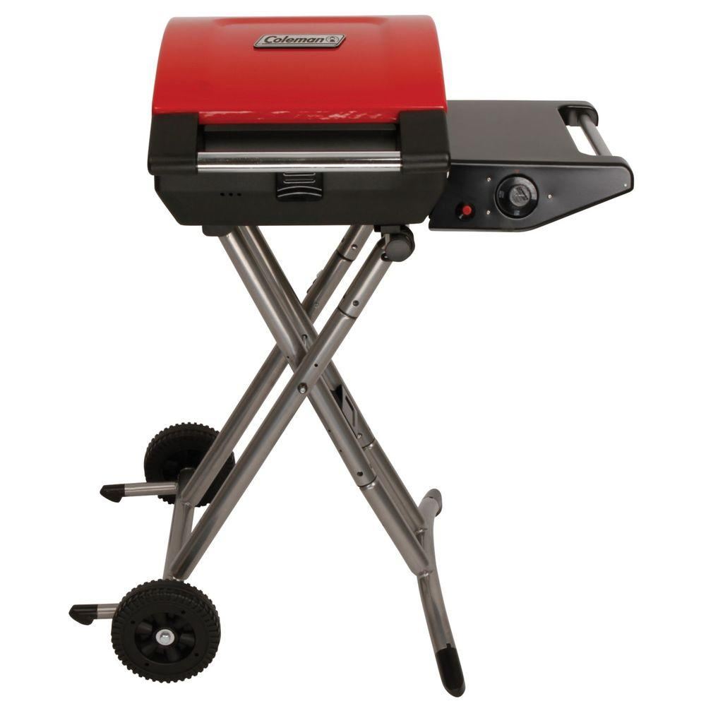 1-Burner Portable Propane Gas Grill in Red