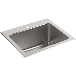 Kohler Ballad 22 inch x 25 inch Stainless Steel Single-Hole Utility Sink by KOHLER