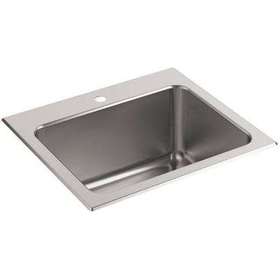 Ballad 22 in. x 25 in. Stainless Steel 4-Hole Utility Sink