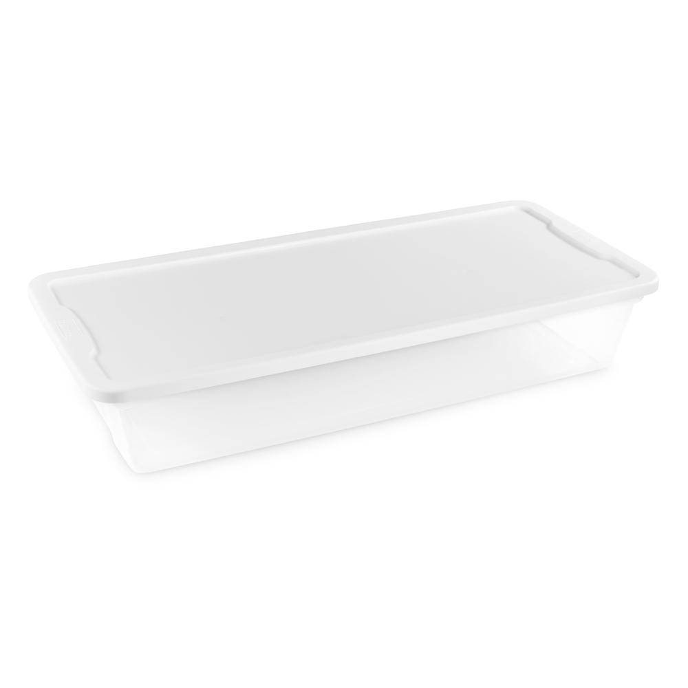 41 Qt. Under Bed Clear Storage Box (6-Pack)