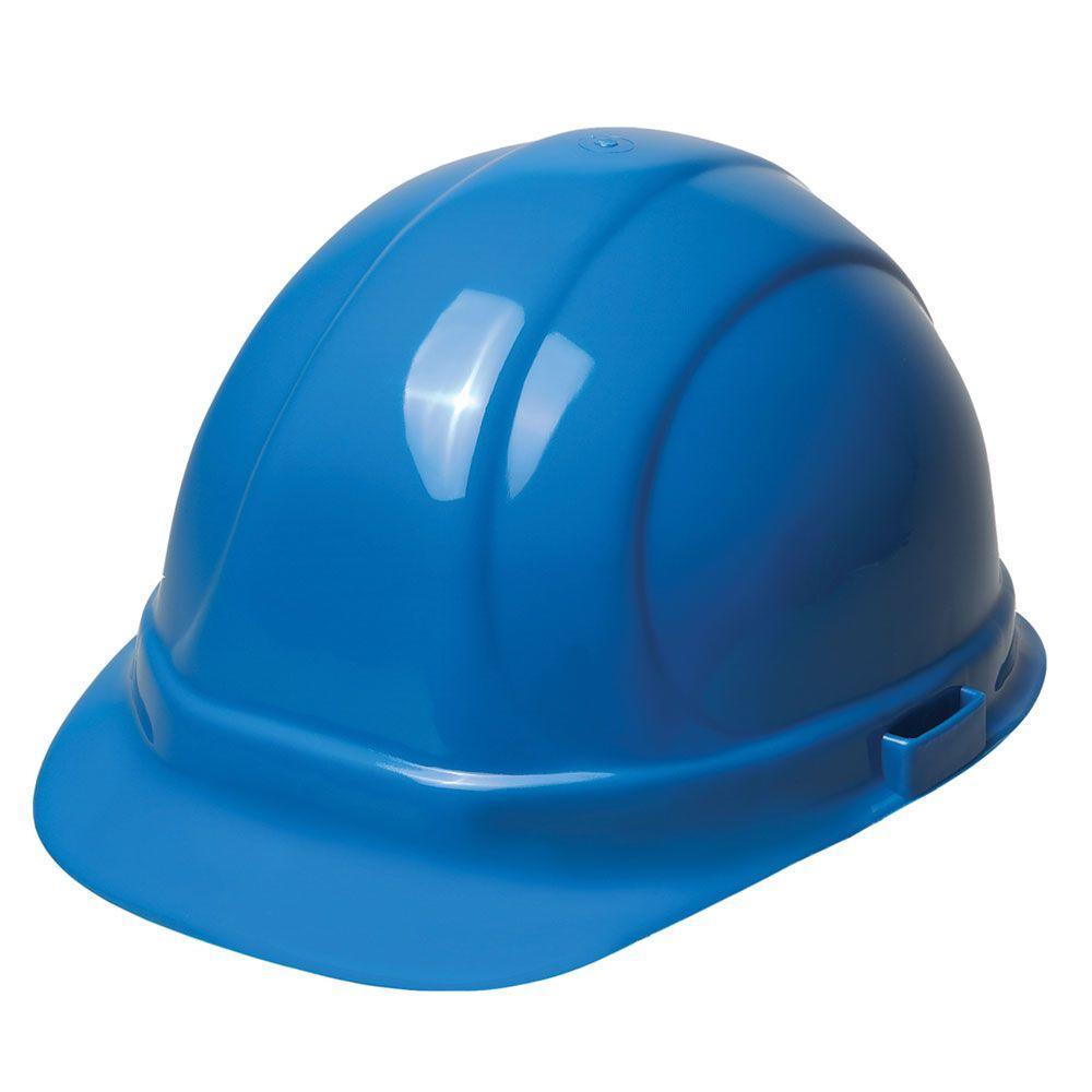 ERB Omega II 6 Point Suspension Nylon Mega Ratchet Cap Hard Hat in Blue