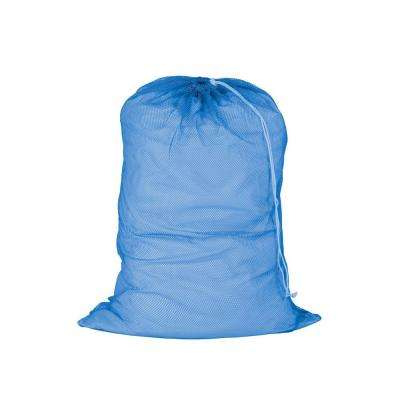 24 in. x 36 in. Mesh Laundry Bag in Blue (2-Pack)