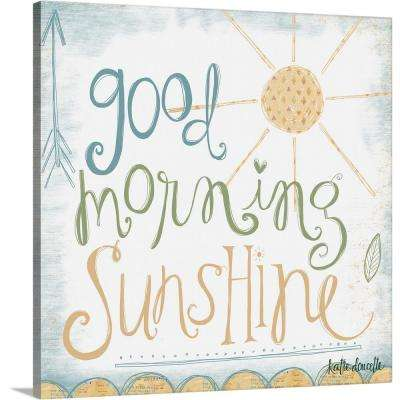 """""""Good Morning Sunshine"""" by Katie Doucette Canvas Wall Art"""