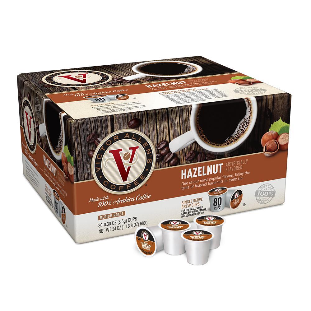 Hazelnut Coffee (80 Single Serve Cups per Case)