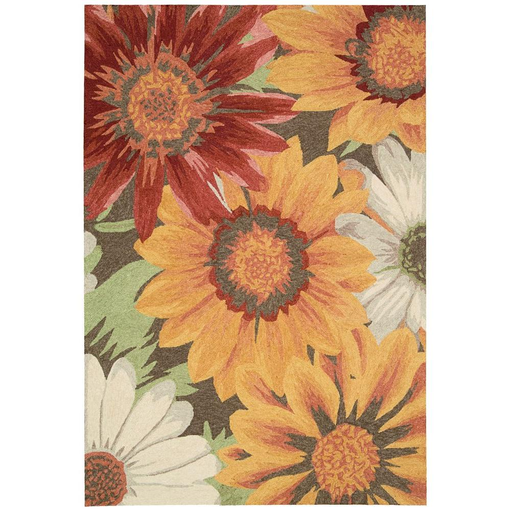 Nourison Overstock South Beach Sunflower 5 ft. x 7 ft. 6 in. Indoor/Outdoor Area Rug