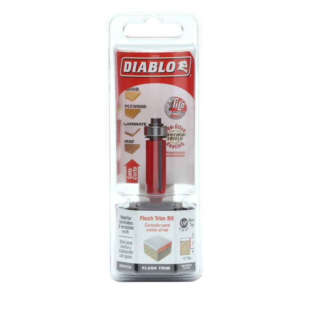 Diablo 1/2 inch x 1 inch Carbide Flush Trimming Router Bit by Diablo