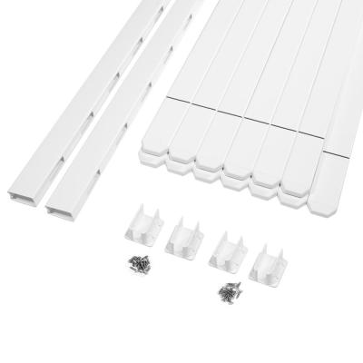 Glendale 4 ft. H x 8 ft. W Vinyl Spaced Picket Fence Panel with Dog Ear Pickets (Includes 4 Brackets)