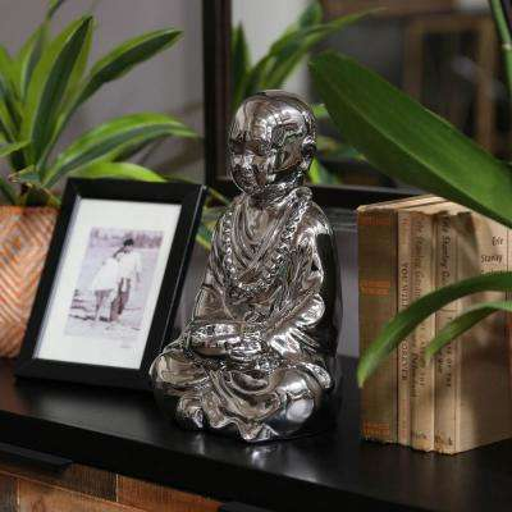 Silver Candle Ceramic Decorative Lantern