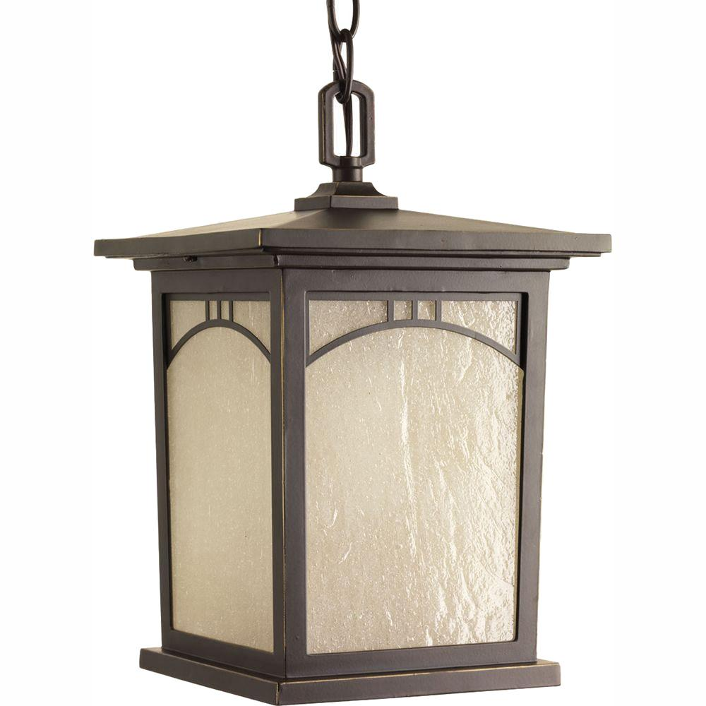 Progress Lighting Residence Collection 1-Light Outdoor Antique Bronze LED Hanging Lantern