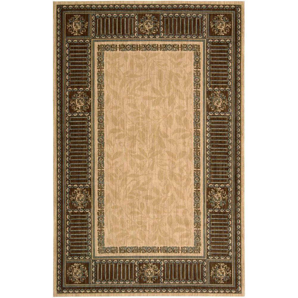 nourison vallencierre beige 3 ft 6 in x 5 ft 6 in area rug 619341 the home depot. Black Bedroom Furniture Sets. Home Design Ideas