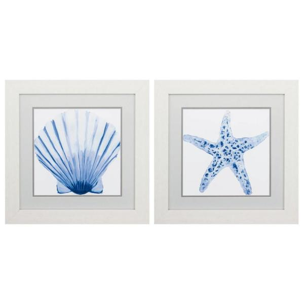 Homeroots Victoria White Gallery Frame Set Of 2 365313 The Home Depot