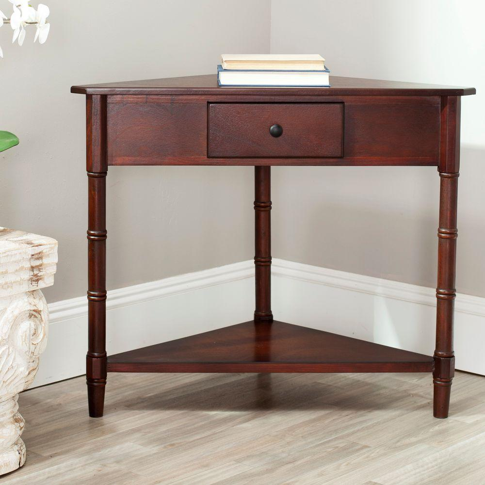 Gomez Dark Cherry Storage Console Table