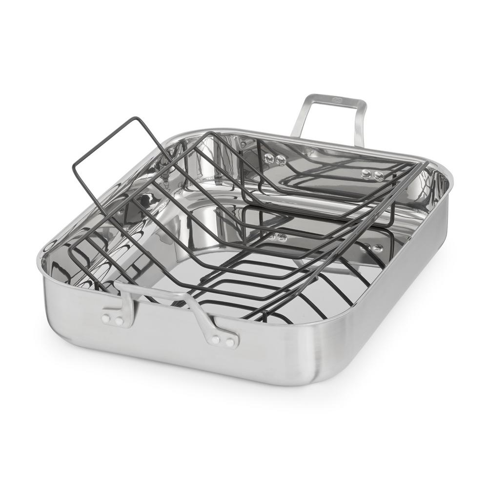 Calphalon Signature 7 Qt 16 In Stainless Steel Roaster