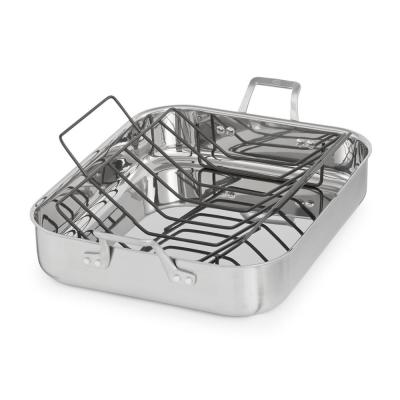 Signature 7 Qt. 16 in. Stainless Steel Roaster with Rack