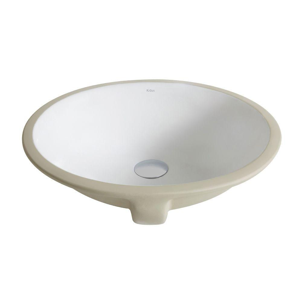Ipt Sink Company Oval Glazed Ceramic Undermount Bathroom