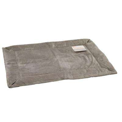 32 in. x 48 in. Large Gray Self-Warming Crate Pad