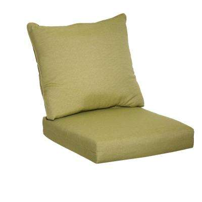 Luxe Solid 2-Piece Outdoor Deep Seating Cushion