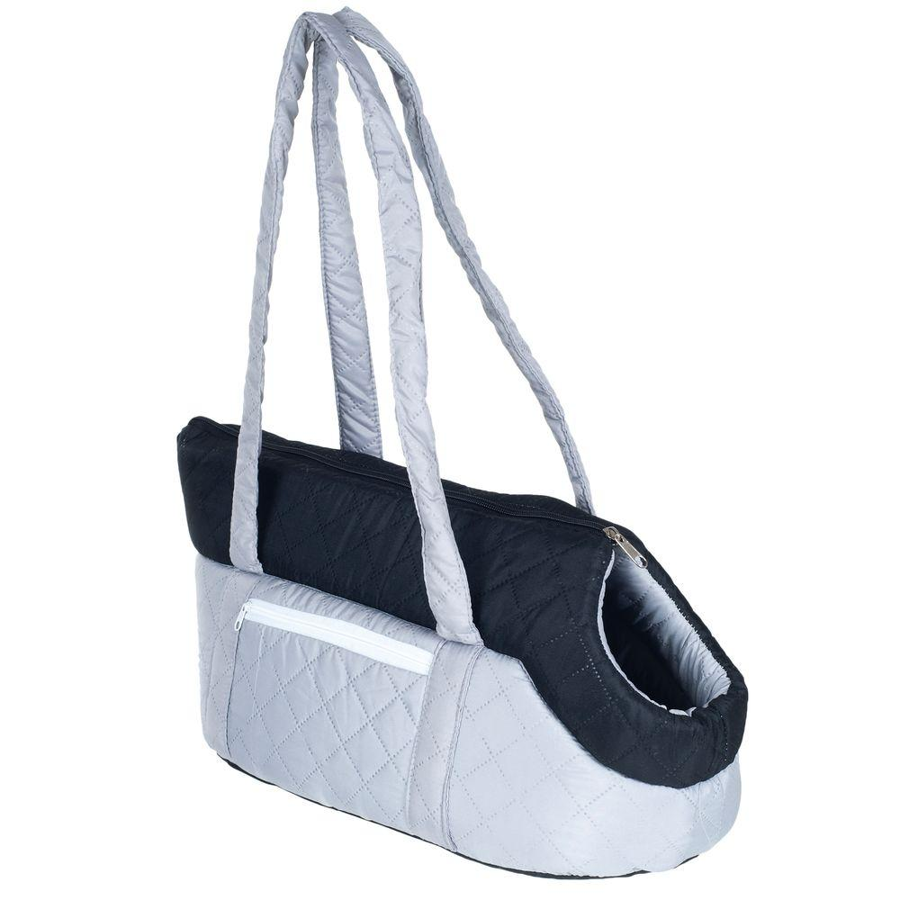 Grey/Black Cozy Cat Travel Pet Carrier