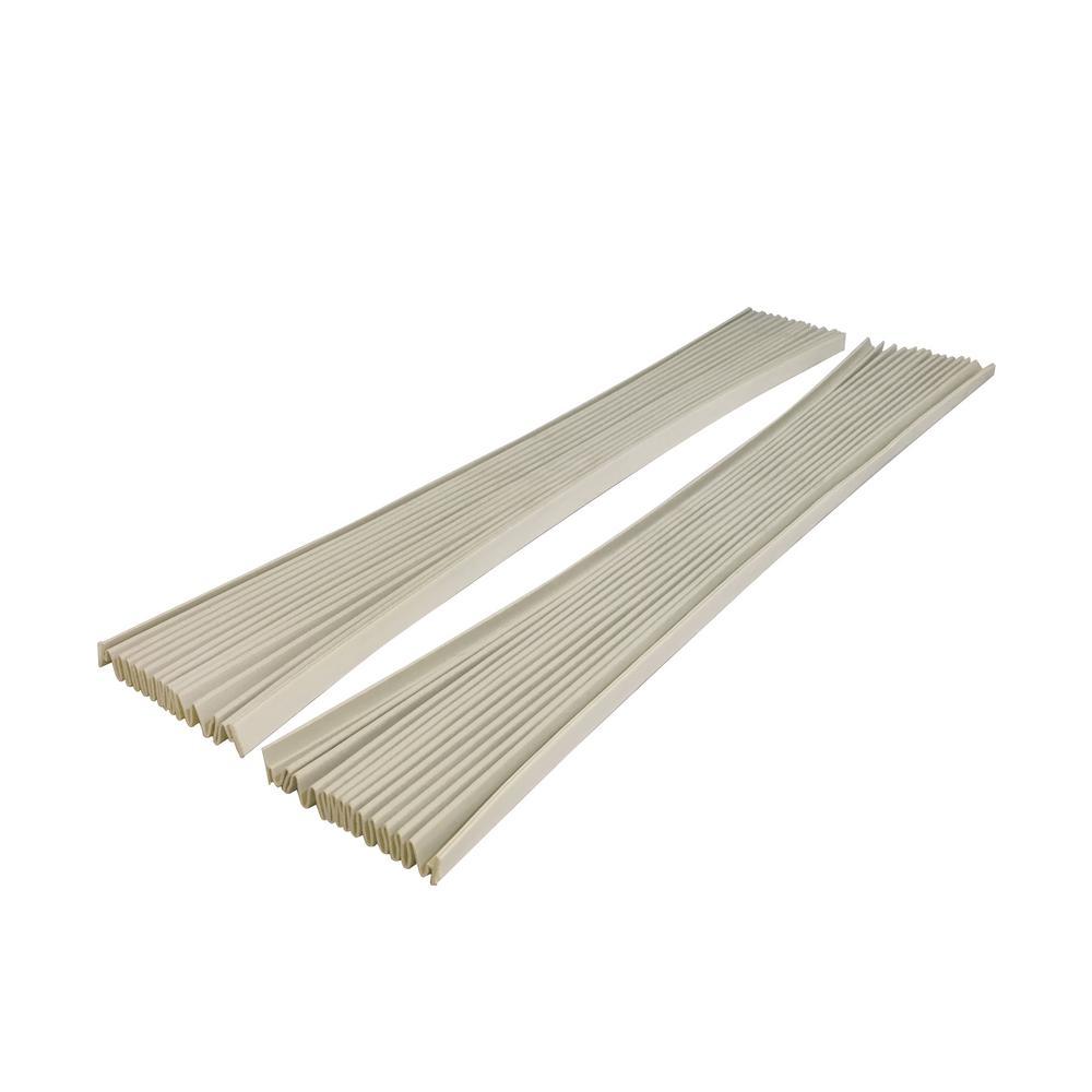 E/O Gray Vinyl Window Air Conditioner Side Panel Kit