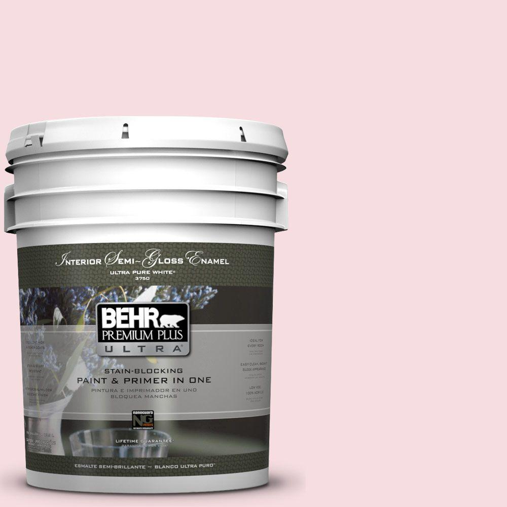 BEHR Premium Plus Ultra 5-gal. #P150-1 Blowing Kisses Semi-Gloss Enamel Interior Paint