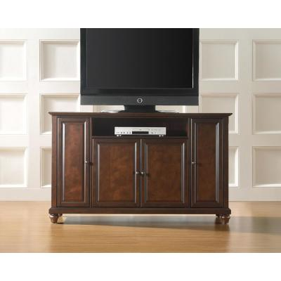 Cambridge 60 in. Mahogany Wood TV Stand Fits TVs Up to 60 in. with Storage Doors