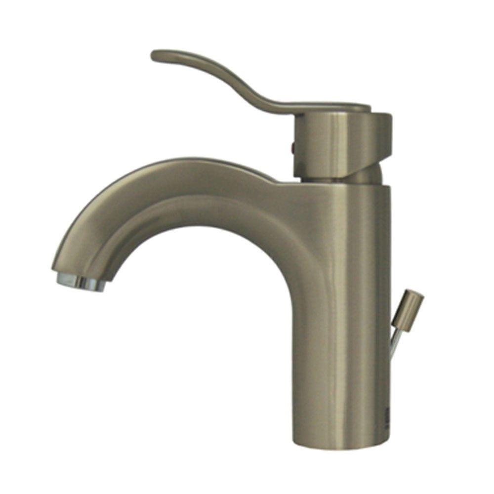 Whitehaus Collection Single Hole 1-Handle Bathroom Faucet in Brushed Nickel