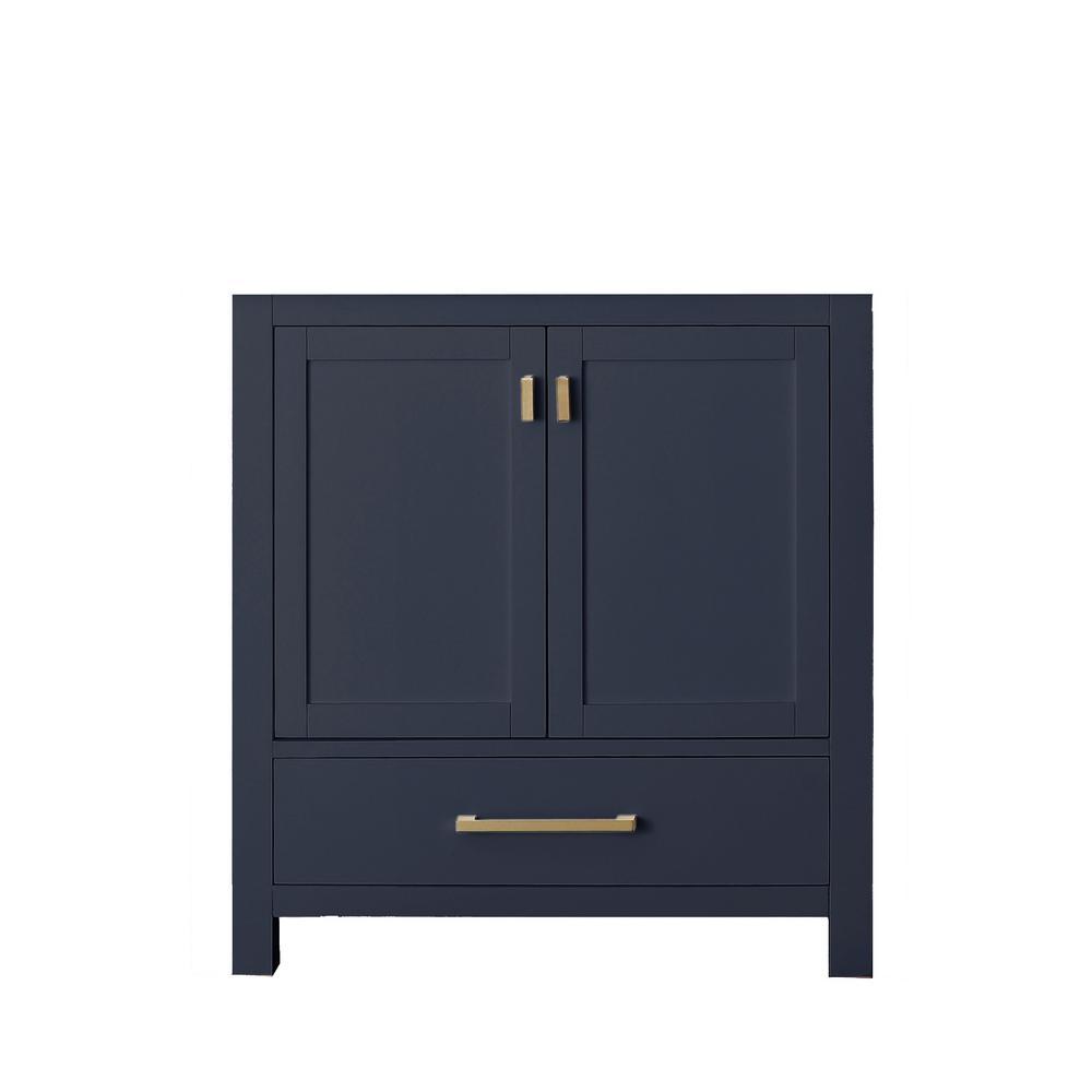 Modero 30 in. W x 21 in. D x 34 in. H Vanity Cabinet Only in Navy Blue