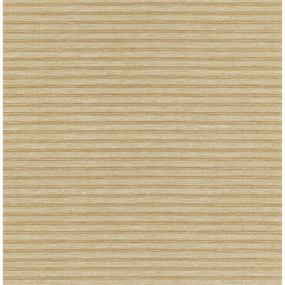 Brewster Northwoods Lodge Beige Grasscloth Wallpaper Sample