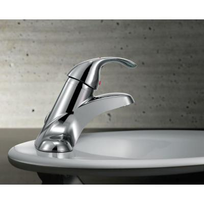 Commercial 4 in. Centerset Single-Handle Low-Arc Bathroom Faucet in Chrome