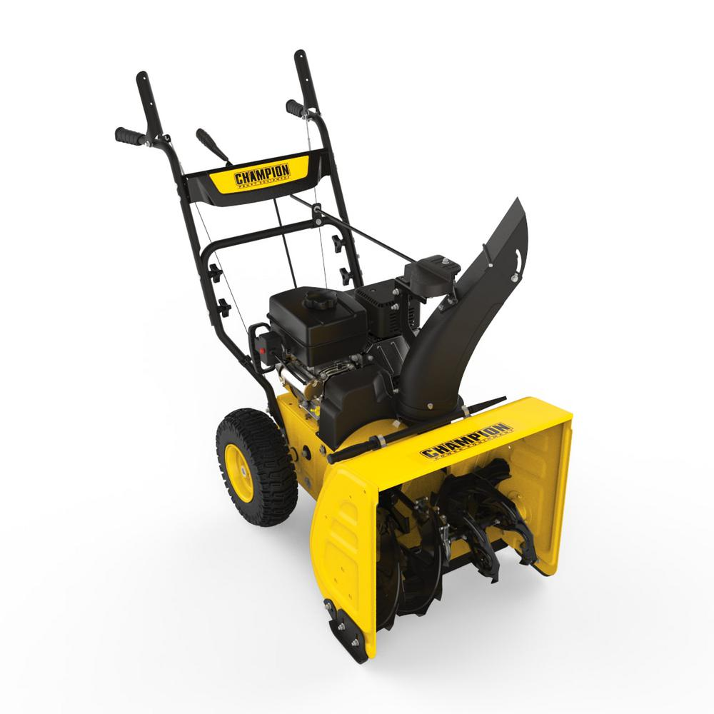 Best Small Electric Snow Blower : Champion power equipment in cc compact stage gas