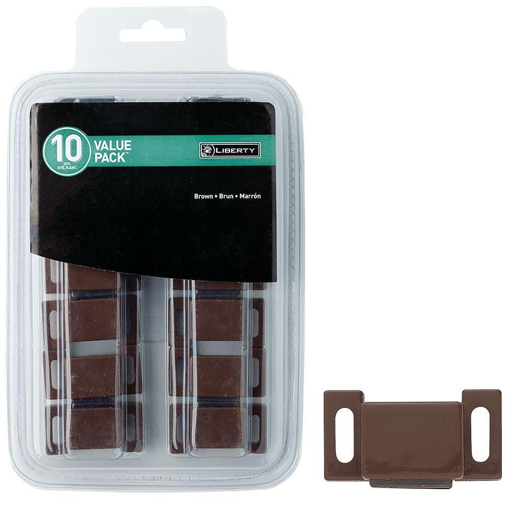 Liberty 1 In Brown Magnetic Door Catch 10 Pack C08132l Br U1