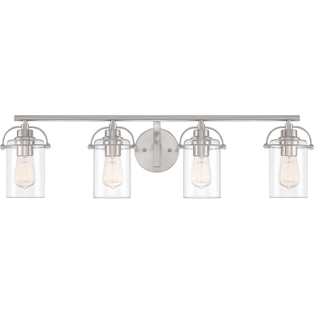 Emerson 4-Light Brushed Nickel Vanity Light