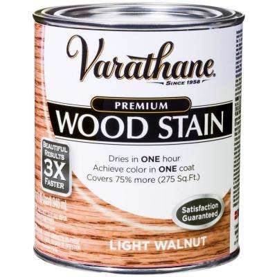 1 qt. Light Walnut Premium Fast Dry Interior Wood Stain (2-Pack)