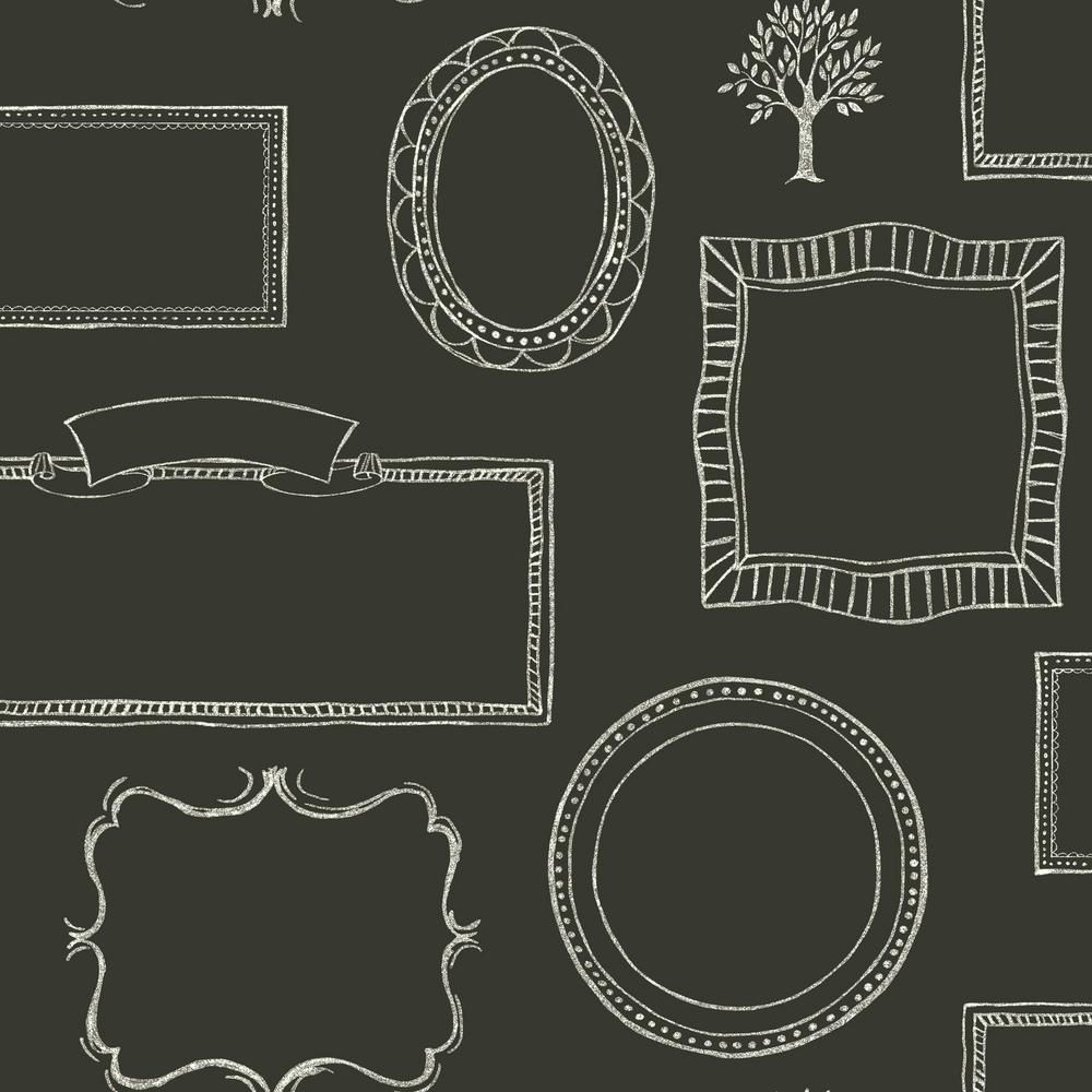 York Wallcoverings Chalkboard Frames Wallpaper-LG1366 - The Home Depot