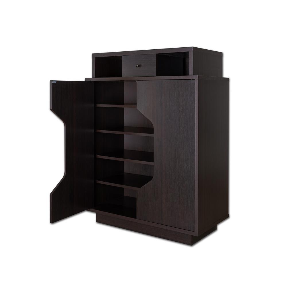 Reylan Espresso Shoe Cabinet