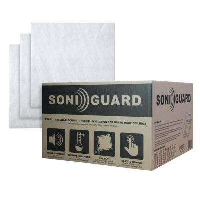 Soniguard 24 in. x 24 in. Drop Ceiling Acoustic/Thermal Insulation (Case of 25)