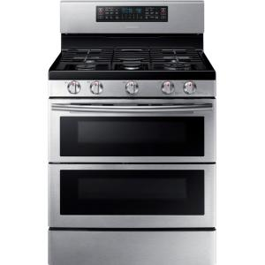 Click here to buy Samsung 30 inch 5.8 cu. ft. Double Oven Gas Range with Self-Cleaning Convection Oven in Stainless by Samsung.
