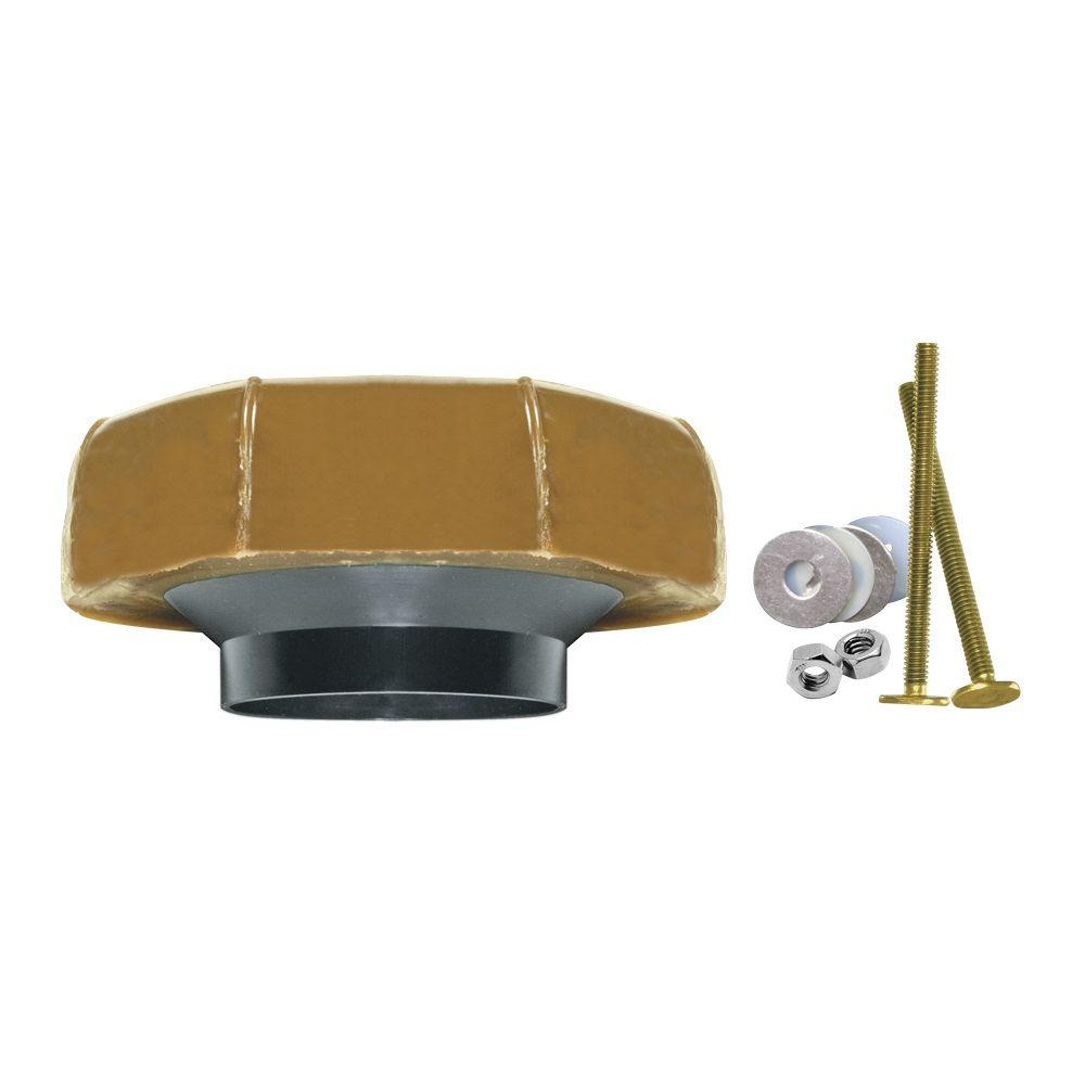 Extra Thick Reinforced Wax Toilet Bowl Gasket with Flange and Bolts