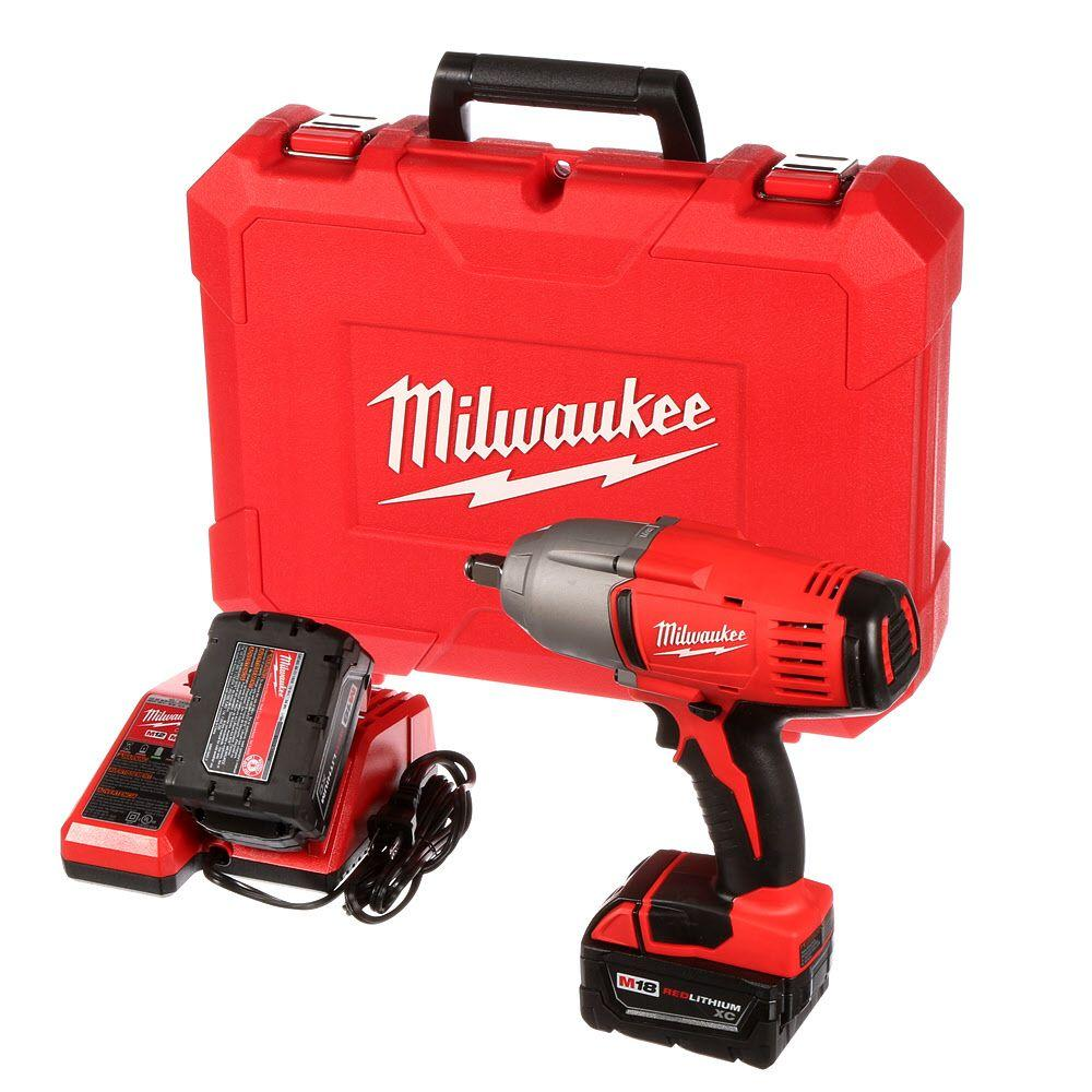 Milwaukee M18 18-Volt Lithium-Ion 1/2 in. Cordless High-Torque Impact Wrench with Friction Ring Kit