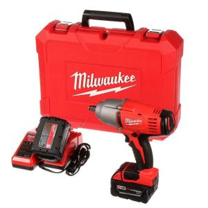Milwaukee M18 18-Volt Lithium-Ion 1/2 inch Cordless High-Torque Impact Wrench with Friction Ring Kit by Milwaukee