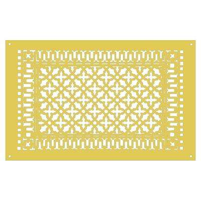 Scroll Series 30 in. x 18 in. Aluminum Grille, Sun Gold with Mounting Holes