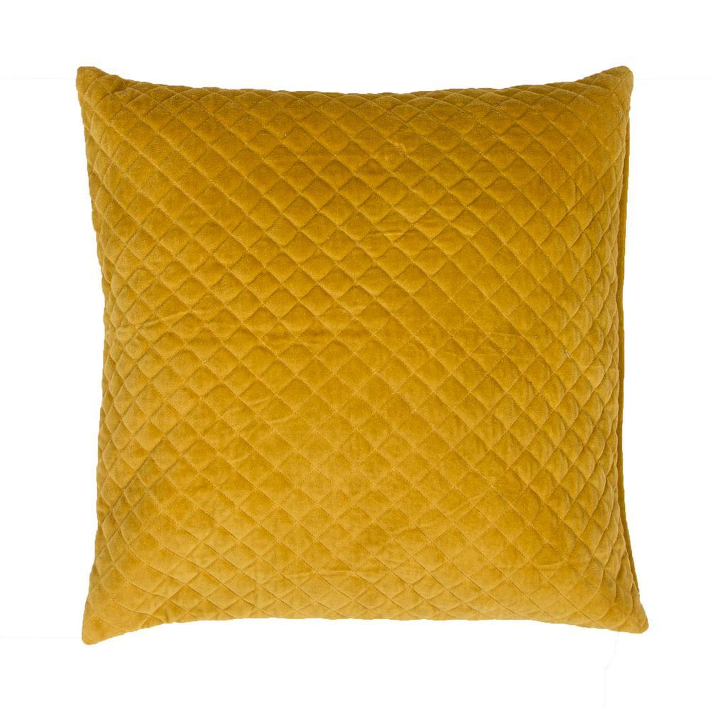 Lavish Golden Spice Downfill Decorative Pillow