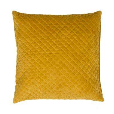 Lavish Golden Spice Downfill Decorative Pillow