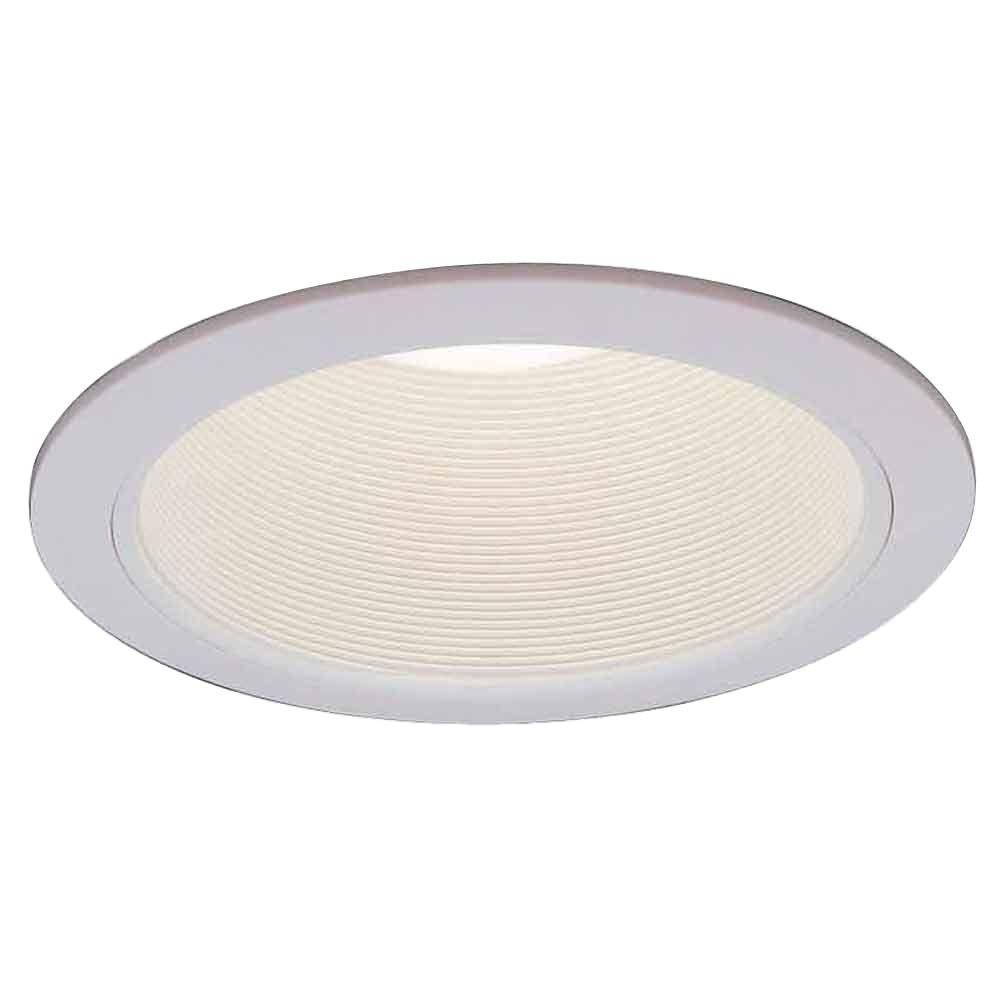 Commercial Electric 6 in. R30 White Recessed Baffle Trim (6-Pack ...