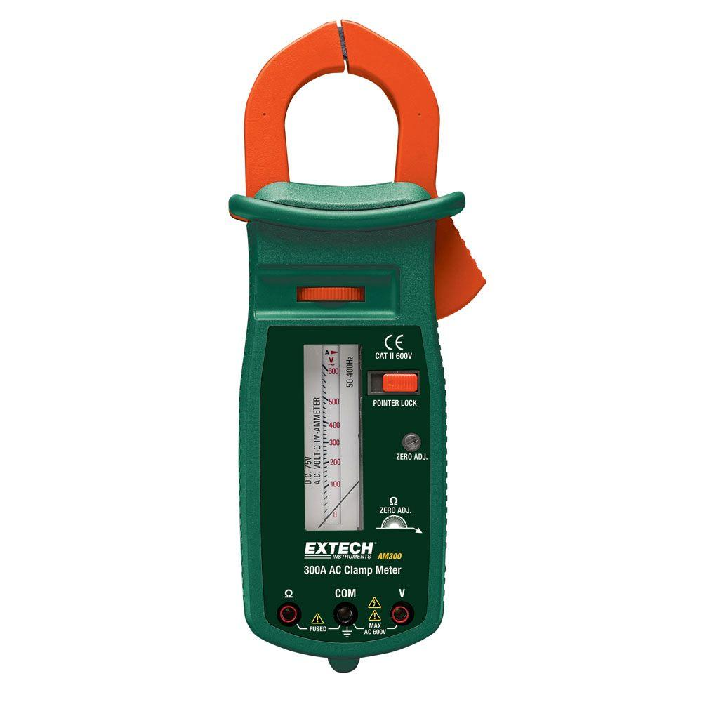 Extech Instruments Manual Clamp Meter Analog 300 Amp-DISCONTINUED
