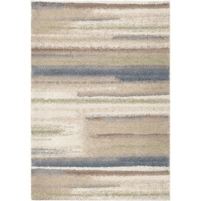 Modern Tonal Blue 5 ft. 3 in. x 7 ft. 6 in. Area Rug